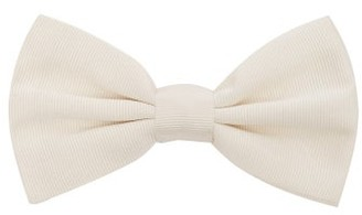 Dolce & Gabbana Silk Faille Bow Tie - Mens - White