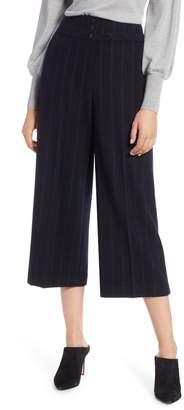 Halogen Stripe Wide Leg Crop Suit Pants