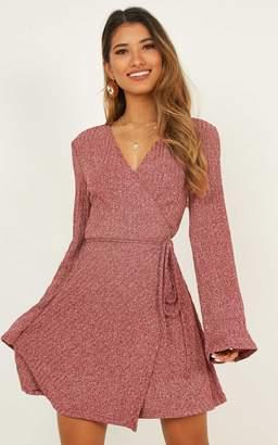 Showpo Tricky Business Dress in wine marle - 4 (XXS) Dresses