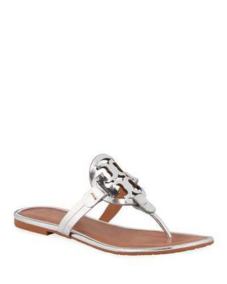 Tory Burch Miller Metallic Flat Sandals