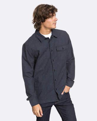 Quiksilver Mens Textured Lined Long Sleeve Shirt
