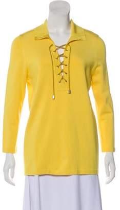 Oscar de la Renta Silk Knit Top