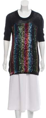 Sonia Rykiel Sequin-Accented Knit Top