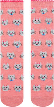 Accessorize Bowtie Cats All Over Printed Socks