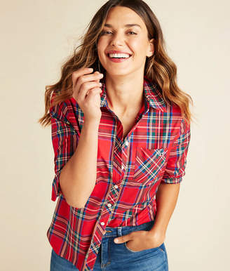 Vineyard Vines Jolly Plaid Chilmark Relaxed Button Down