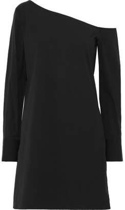 Theory Ulrika One-shoulder Stretch-cotton Poplin Dress