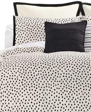 Kate Spade Flamingo Dot 3-Piece 272 Thread Count Cotton Duvet Set