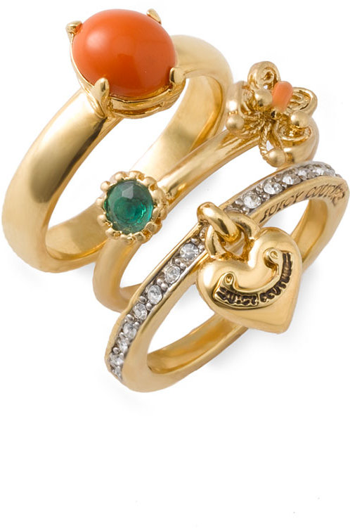 Juicy Couture 'Dazed & Coutured' Stackable Rings
