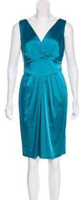 Calvin Klein Satin Knee-Length Dress