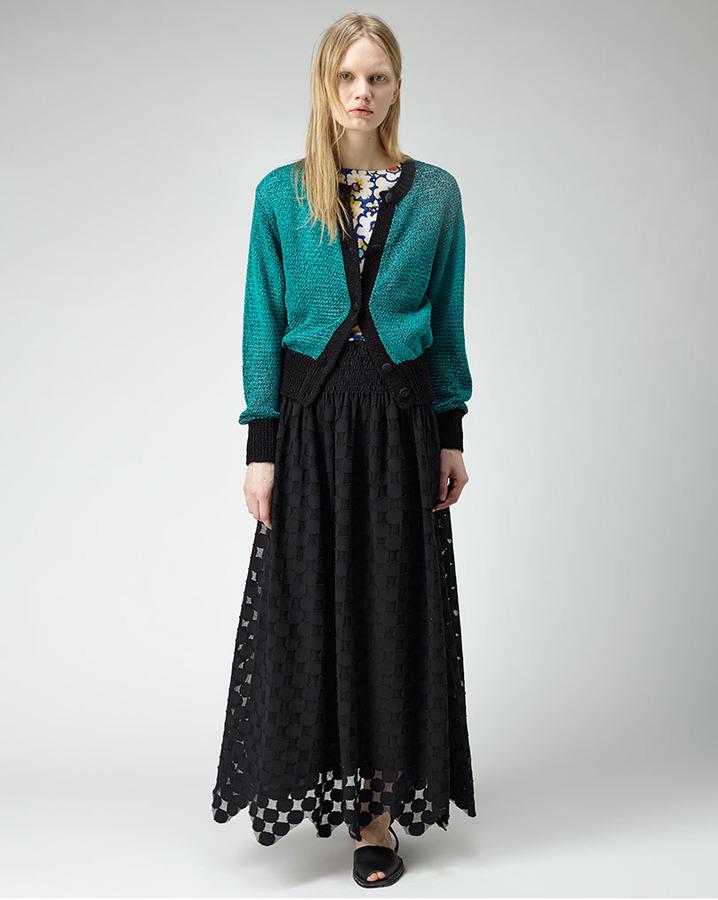 Tsumori Chisato colorblocked cardigan