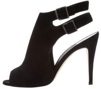 Manolo Blahnik Lava Suede Sandals w/ Tags