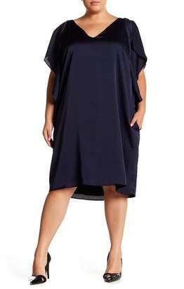 Rachel Roy Flutter Sleeve Dress (Plus)
