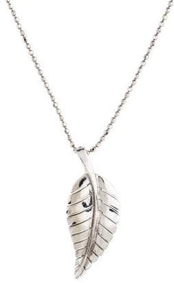 Jennifer Meyer 18K Leaf Pendant Necklace