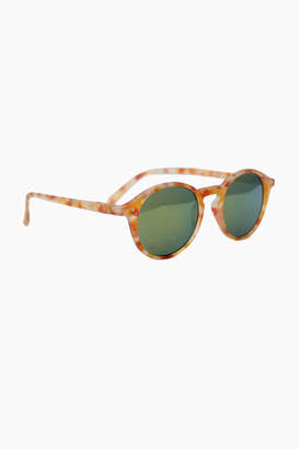 Gents IZIPIZI Yellow Tortoise Mirror Sunglasses #D