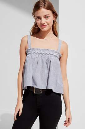 Urban Outfitters Striped Smocked Tank Top