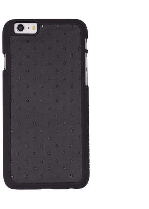 Felony Case Perforated Matte Black Nappa Lamb Leather Case for iPhone 6/6s