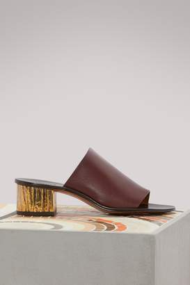Chloé Leather mules