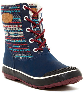 Keen Elsa Faux Shearling Lined Waterproof Boot $130 thestylecure.com