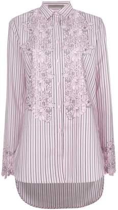 Ermanno Scervino floral embroidered stripe shirt