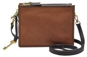 Fossil Campbell Leather Crossbody Bag