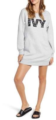 Ivy Park R) Layered Logo Sweatshirt Dress