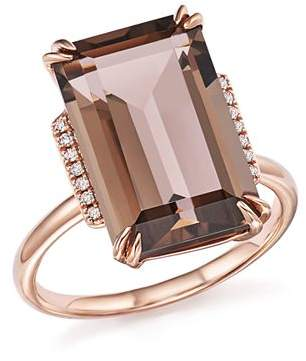 Bloomingdale's Smoky Quartz and Diamond Ring in 14K Rose Gold - 100% Exclusive
