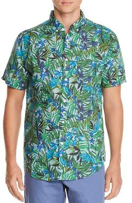 Onia Jack Short-Sleeve Tropical-Print Classic Fit Button-Down Shirt