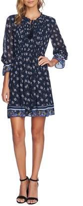 CeCe Pintuck Ditsy Trellis Dress