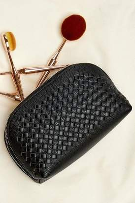 Next Womens Black Weave Make-Up Bag