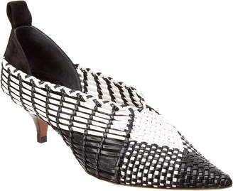 Celine Woven Leather Pump