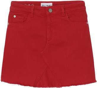 DL1961 Raw Hem Denim Miniskirt