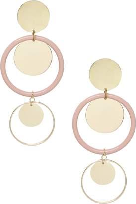Ettika Circle Geo Drop Earrings