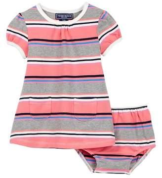 Toobydoo Danica Striped Pocket Dress (Baby, Toddler, & Little Girls)