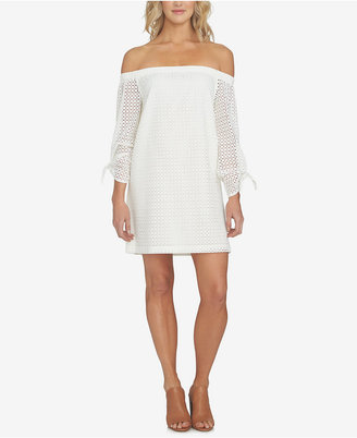 1.state Off-The-Shoulder Eyelet-Detail Dress $139 thestylecure.com