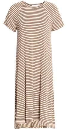 Asymmetric Stretch-Jersey Shirt Dress