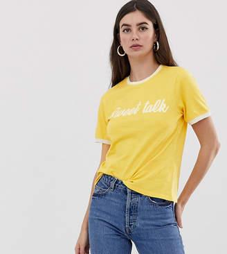 Asos Tall DESIGN Tall t-shirt with sweet talk print