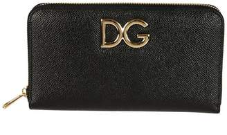 Dolce & Gabbana Logo Zip Around Wallet