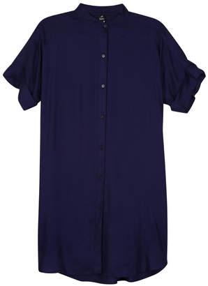 Echo Solid Shirt Dress
