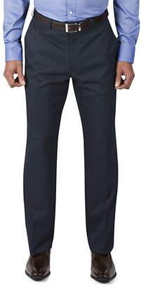 Haggar Straight-Fit Grid Twill Pants