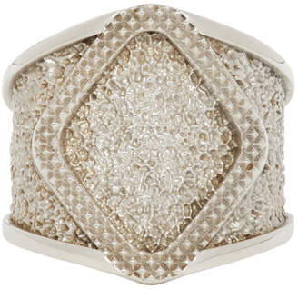 Bottega Veneta Silver Textured Ring