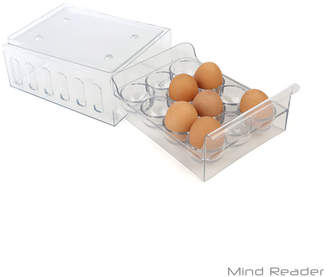 clear MINDREADER Mind Reader Stackable One Dozen Egg Container Carton,