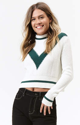 Lottie Moss Mock Neck Pullover Sweater