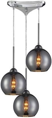 Cassandra Elk Lighting 3 Light Horizontal Pendant