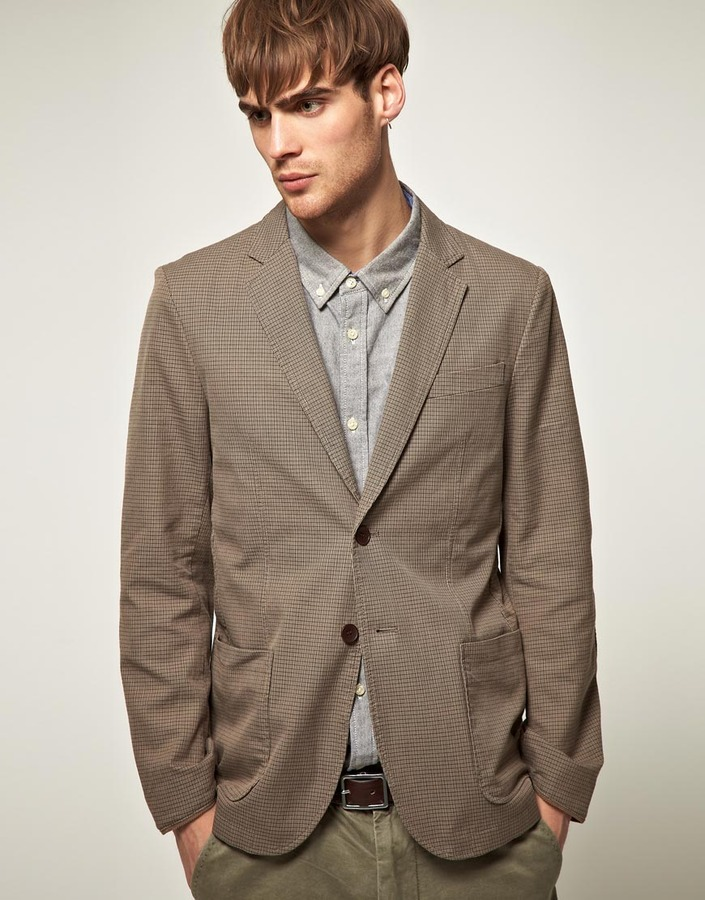 Selected Range Check 2 Button Blazer