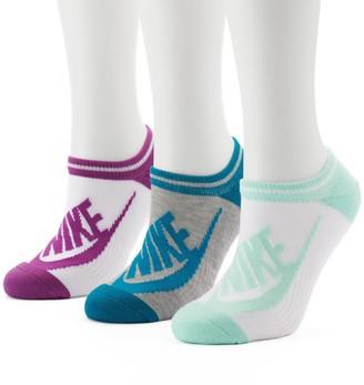 Nike Women's 3-pk. Striped No-Show Socks