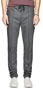 Brunello Cucinelli Men's Wool Flannel Trousers - Navy