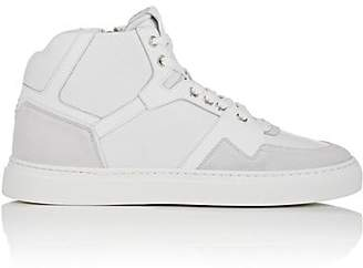 Harry's of London MEN'S GALAXY LEATHER & SUEDE SNEAKERS - WHITE SIZE 7 M