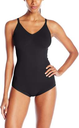 Yummie by Heather Thomson Women's Conner Seamlessly Shaped Cotton Everyday Convertible Halter Bodysuit