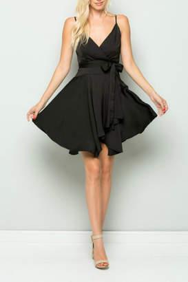 Pretty Little Things Satin Wrap Dress