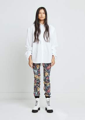 Junya Watanabe Flower Print Stretch Denim